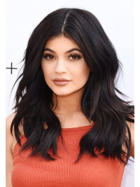 Kylie inspired 14 inches shoulder length free part indian remy full lace human hair wig -  KWE001