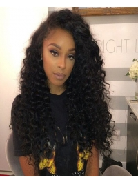 10-22 inches curly indian remy lace front human hair wig