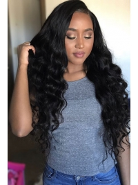 22 inches Indian remy wavy lace front human hair wig - LFW068