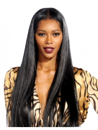 20 inches Indian remy long straight lace front human hair wig