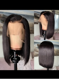 8-14 Inches one length indian remy 13*4 Three-Way-Parting lace front wig bob