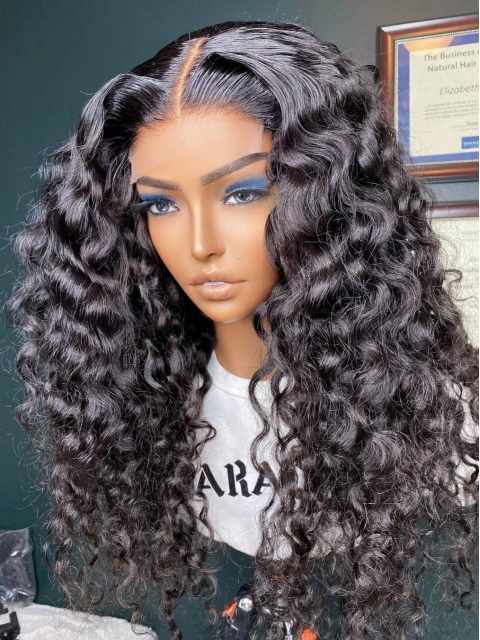 NEW BEACHY WAVE WAVY HUMAN HAIR LACE FRONT WIG-WLF268