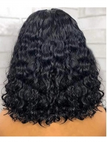 Preplucked Prebleached Undetectable Transparent Lace Indian Virgin Hair Front Lace Wig-WE032