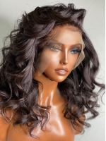 NEW NO DIY - REAL INVISIBLE HD LACE - WAVY HUMAN HAIR LACE FRONT WIG- HD900
