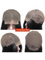 Custom Color-Gorgeous Brown Highlight Lace Closure Silky Straight Human Hair-CC004