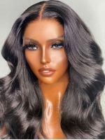 New&Upgraded 5×5 Invisible Real HD lace Closure Human Hair Wig With Wand Curls-SWC054