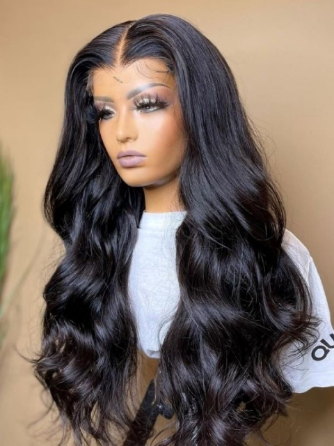 New&Upgraded 5×5 Invisible Real HD Lace Closure Human Hair Wig With Wand Curls-SWC057