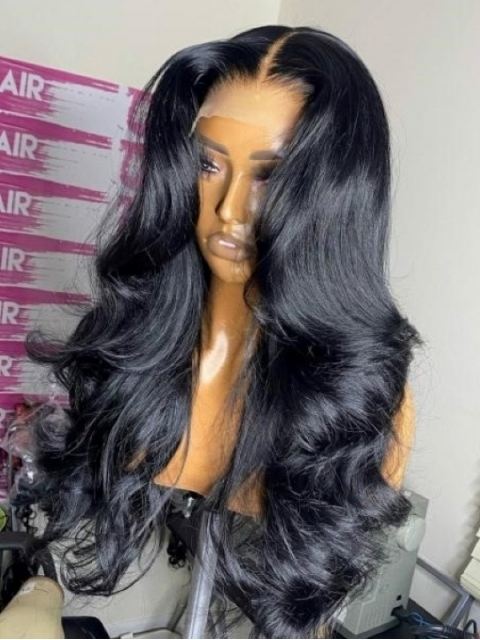 New&Upgraded 5×5 Invisible Real HD Lace Closure Body Wave Human Hair Wig-SWC058