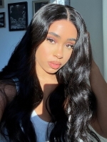 13*6 SUPER FINE INVISIBLE HD LACE-GORGEOUS HUMAN HAIR LACE FRONTAL WIG WITH WAND CURLS- HD922