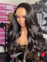 13*6 SUPER FINE INVISIBLE HD LACE-RIGHT SIDE PART HUMAN HAIR LACE FRONTAL WIG WITH WAND CURLS-HD923