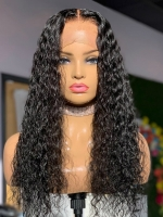 Indian virgin preplucked beachy curls human hair full lace wig-FL027