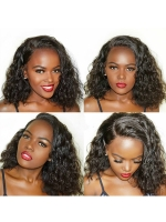 Preplucked Indian virgin 360 lace frontal human hair curly wig -WE065