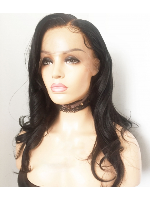 Preplucked Indian virgin 360 lace frontal human hair light yaki wig with wand curls