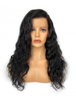 Invisible HD skin melt swiss lace beachy wave human hair full lace wig