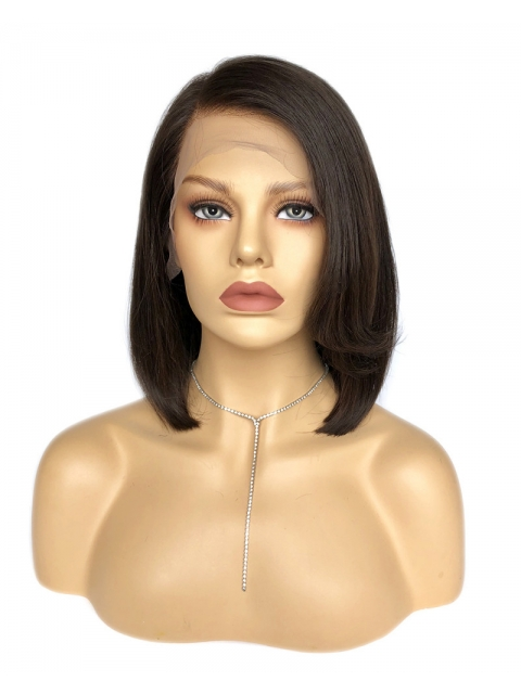 Easy affordable short side part human hair wig