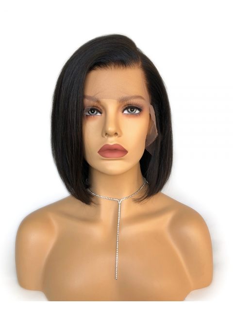 Easy affordable 10 inches short side part human hair wig