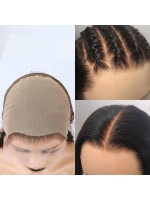 Pre-made Fake Scalp Indian Virgin Front Lace Human Hair Bob Wig
