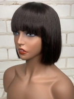 Easy affordable 10 inches short hair with bang