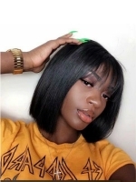 Easy affordable 10 inches human hair wig with bang