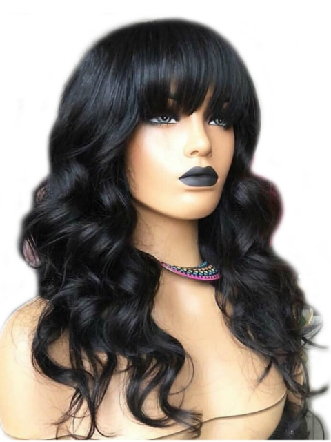 Preplucked Indian virgin 360 lace frontal human hair body wave wig