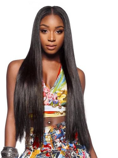 10-22 inches Indian remy long straight lace front human hair wig