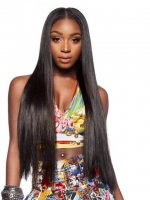 22 inches Indian remy long straight lace front human hair wig - LFS008