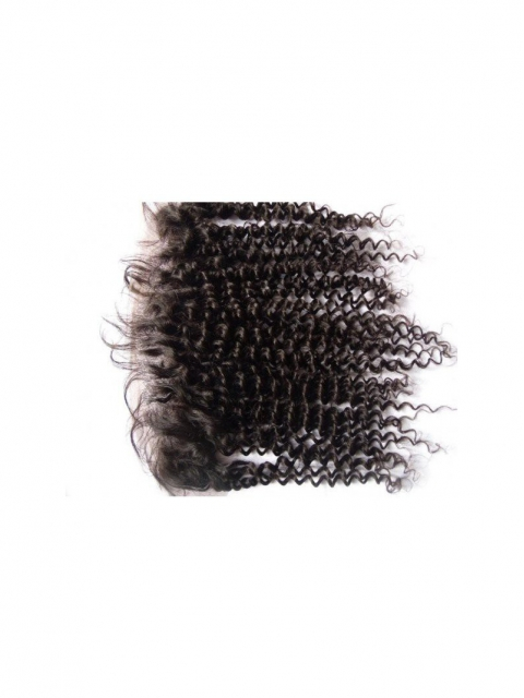 13*4 indian remy human hair curly lace frontal-FC134