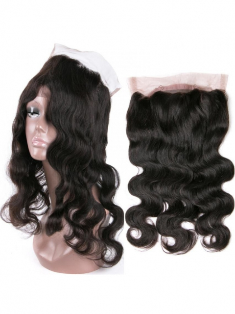 Indian remy human hair body wave 360 lace frontal -FW360