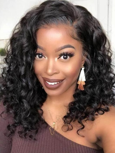 New Melting Hairline Curly Lace Frontal Wig-LFB879