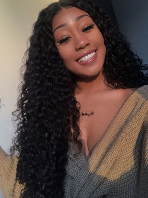 Melting Hairline Long Curly Lace Frontal Wig-LFW946