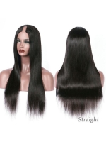 New U-part Natural Color Human Hair Wig-UP001