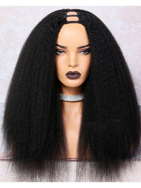 New Kinky Straight U-Part Wig for beginners-UP009
