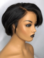 8 Inches 180% density indian remy 360 lace frontal wig bob-WE002
