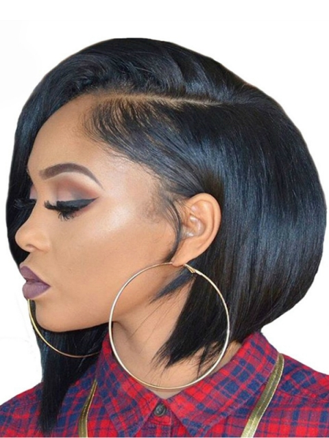 10 Inches 180% density indian remy 360 lace frontal wig bob-WE003