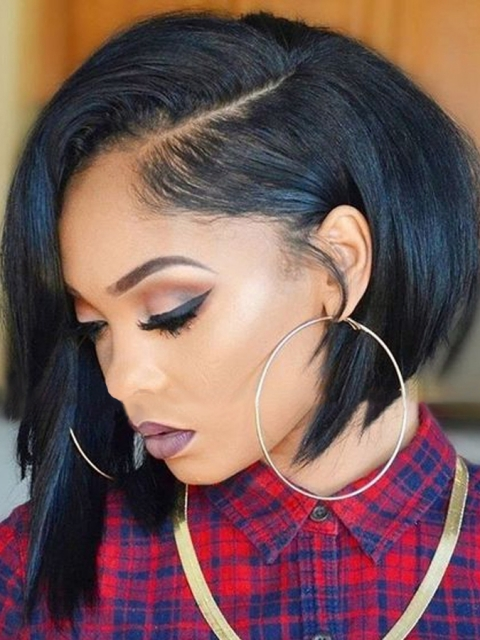10 Inches 150% density indian remy 360 lace frontal wig bob