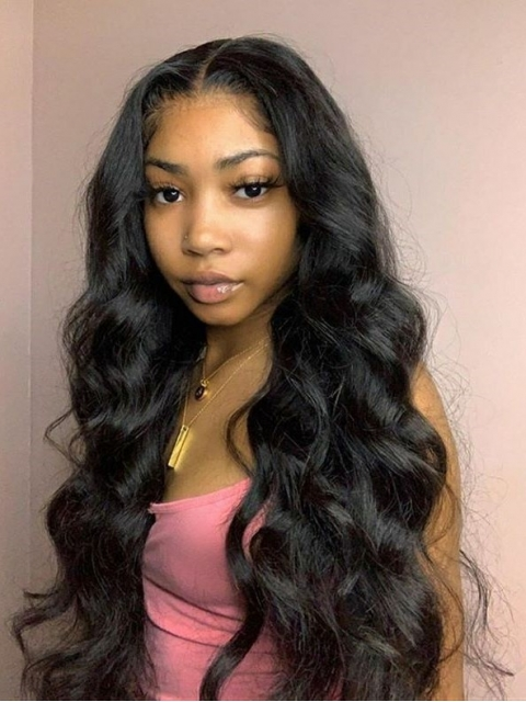 New 10-22 inches Body Wave 5x5 HD Swiss Lace Closure Wig-SWC010