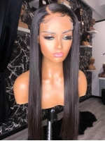 Straight 4*4 Lace  Frontal Closure Human Hair Wig-SFW001