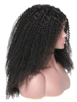 22 inches kinky curly indian remy lace front human hair wig - LFC007