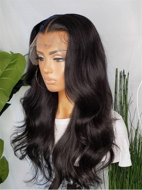 New 13x5 T-Part Lace Front 100% Brazilian Virgin Human Hair Wigs With Wand Curls-TP002