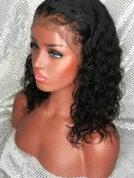 14 inches 150% density indian remy human hair curly bob-WE022