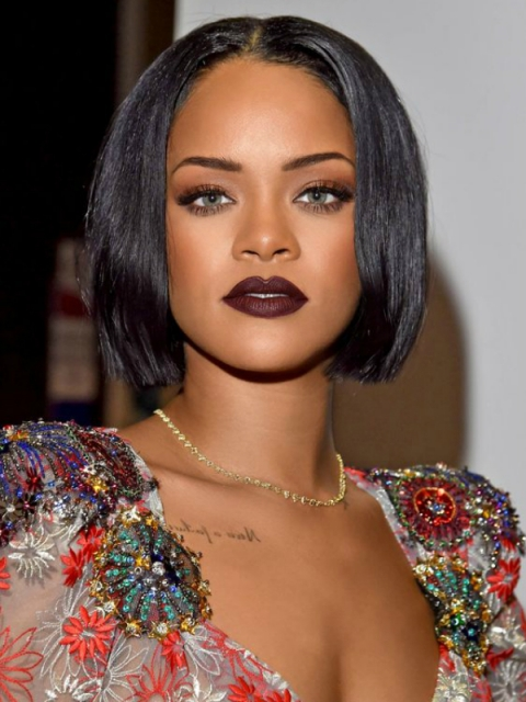 Rihanna Inspired Straight 360 Lace Frontal Wig Bob
