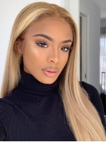 Pina Colada-New gorgeous 13*5 T-part lace frontal straight hightlight golden wig-CCW009
